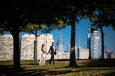 Camden Waterfront engagement photo session