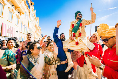 Indian baraat in Broadwalk in Atlantic City