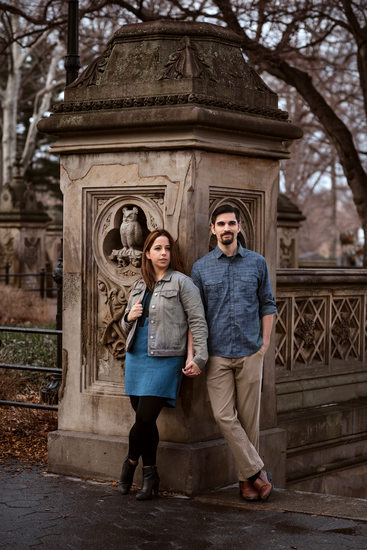 Bethesda Terrace engagement portraits