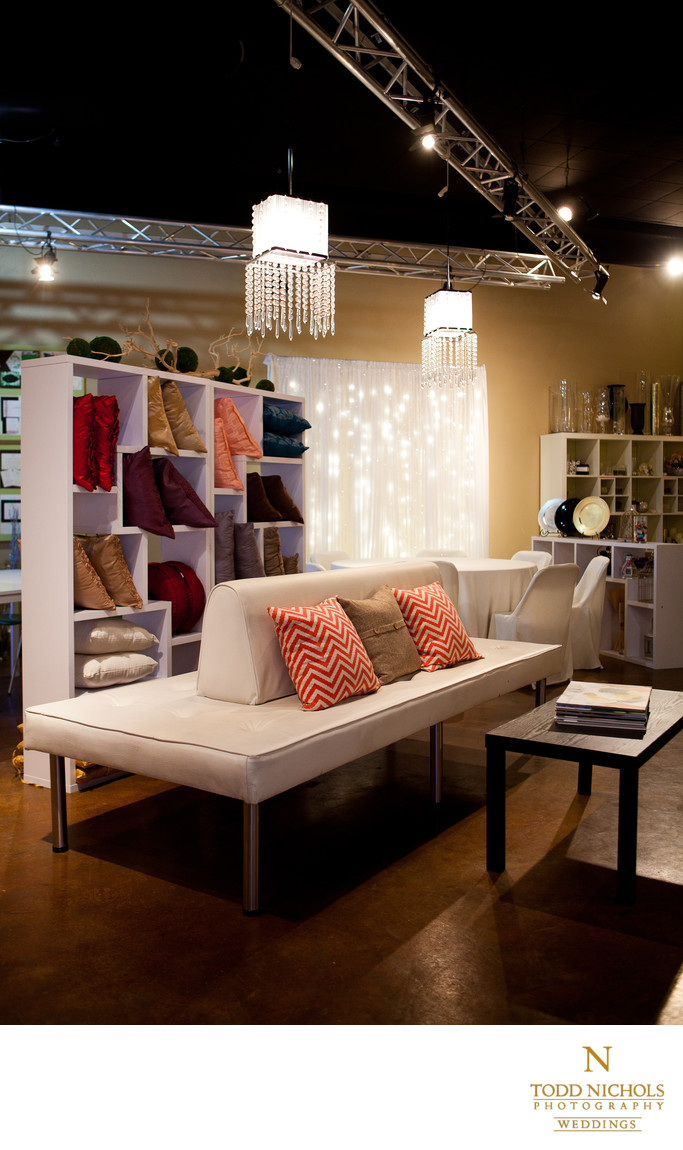 Bliss Event Interior Showroom Fabrics