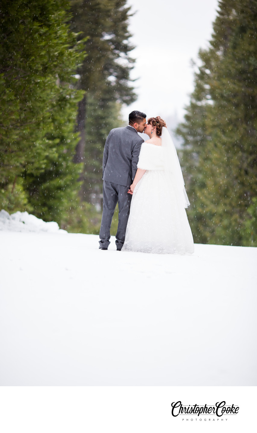 yosemite wedding photographer wedding in snow