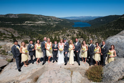 Donner Lake Overlook Wedding Photography