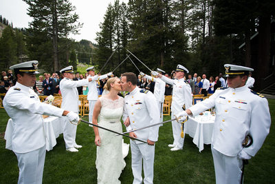 Lake Tahoe Military Wedding