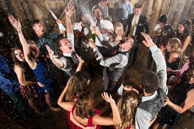 Champagne Celebration at Wedding