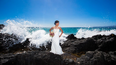maui wedding photographer secret beach wedding