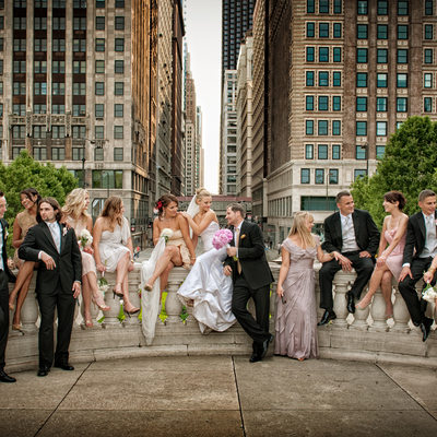 Bridal Portraits in Downtown Chicago