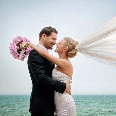 Wedding Photography at North Avenue Beach in Chicago