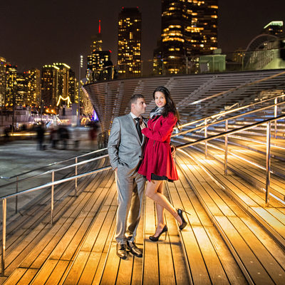 Navy Pier Chicago Engagement Wedding Session