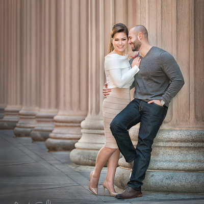 Chicago Board of Trade Building Engagement Portrait