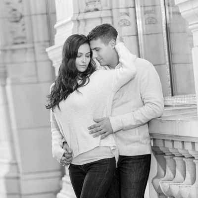 Chicago Engagement Session by Wrigley Building