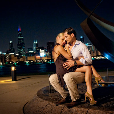 Chicago Planetarium Engagement Wedding Photography