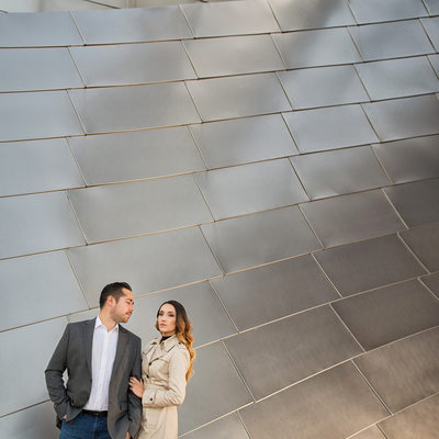 Engagement Portrait Images at Millennium Park