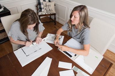 interior design business owners at work - franklin, tn
