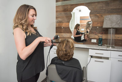 Business branding photography - salon in Franklin, TN