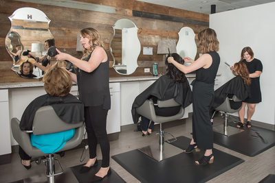 Stylists at Franklin, TN salon - branding photography