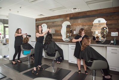 Stylists at Franklin, TN hair salon - business branding