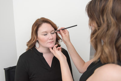 Business branding photography - makeup franklin salon