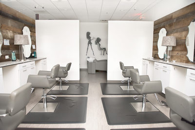 franklin salon business branding - indoor photos