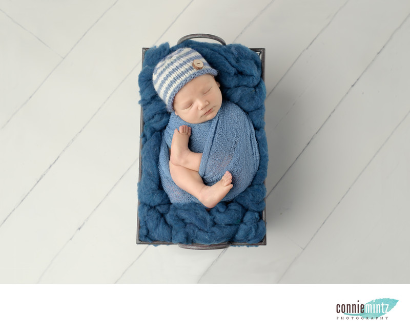 Newborn Boy at Connie Mintz Photography