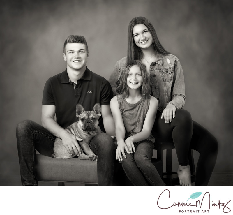 Vancouver WA Black and White Family Photographer.