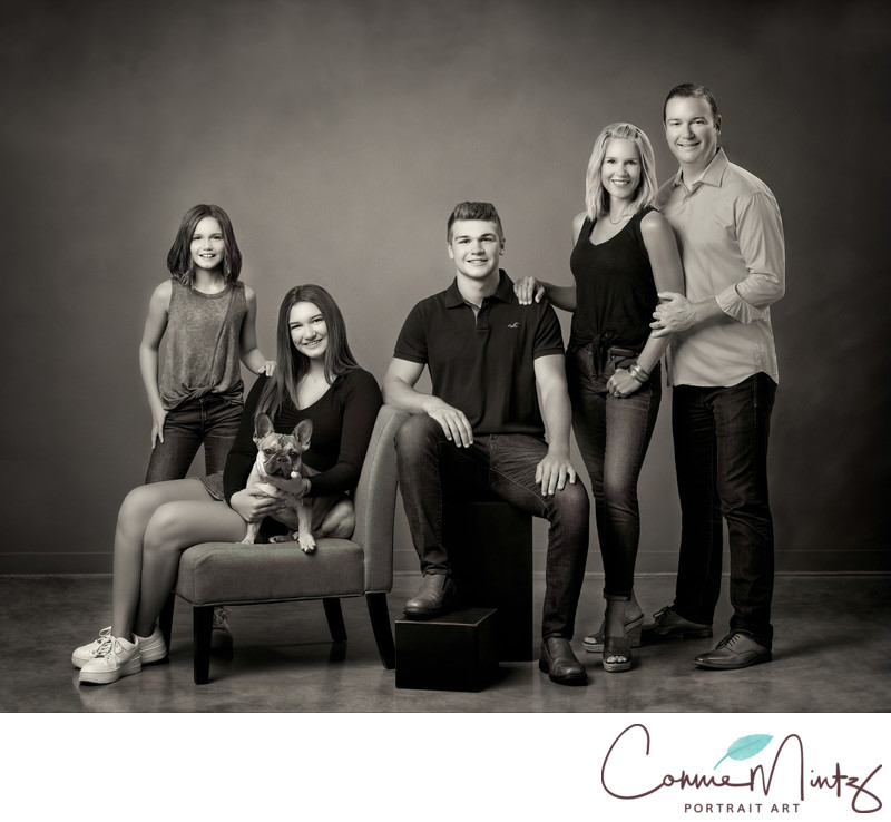 Vancouver WA Black and White Fine Art Family Portraaita.