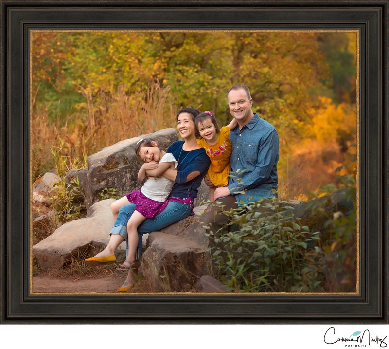 Framed Outdoor Family Portrait | Wong