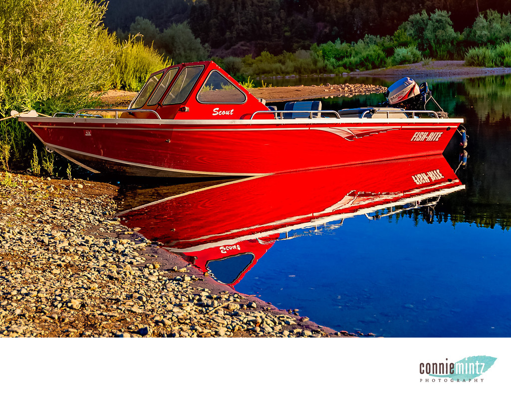 Roque Valley Oregon Boat on River
