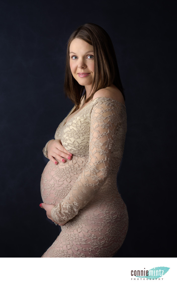 Pregnancy Portrait in the Studio