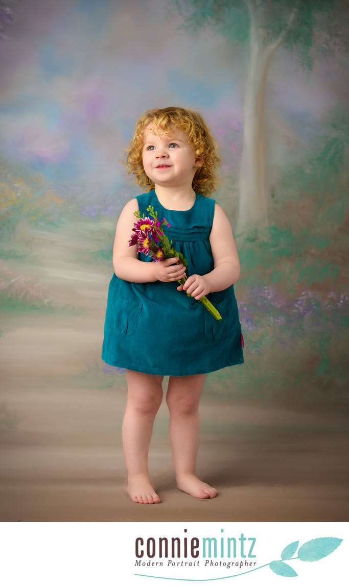 Children Photography Vancouver Washington Painted Backdrop