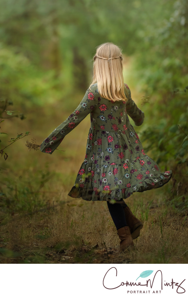 Twirling in the woods
