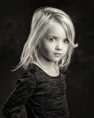Vancouver Washington Black and White Children Portraits