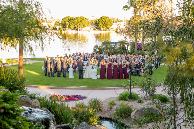 Ceremony Val Vista Lakes Phoenix Wedding Photographer