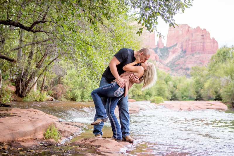 Sedona Engagement Session, a kiss Phoenix Photographer