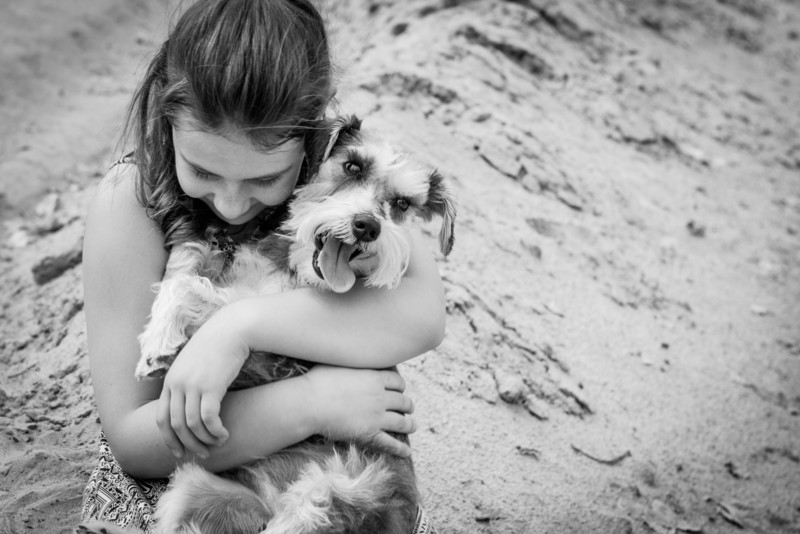 Girl Loves Dog Beach Parker Arizona Photographer