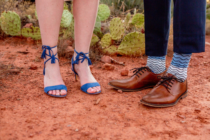 Blue Shoes Agave of Sedona Phoenix Wedding Photographer