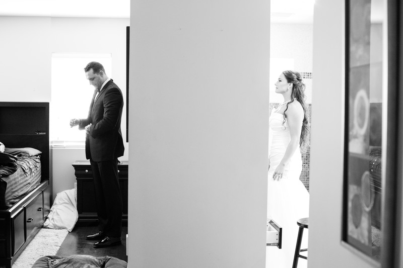 Bride and Groom get ready Phoenix Wedding Photographer