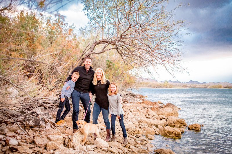 Family Portrait Session, Lake Havasu Beach Sky