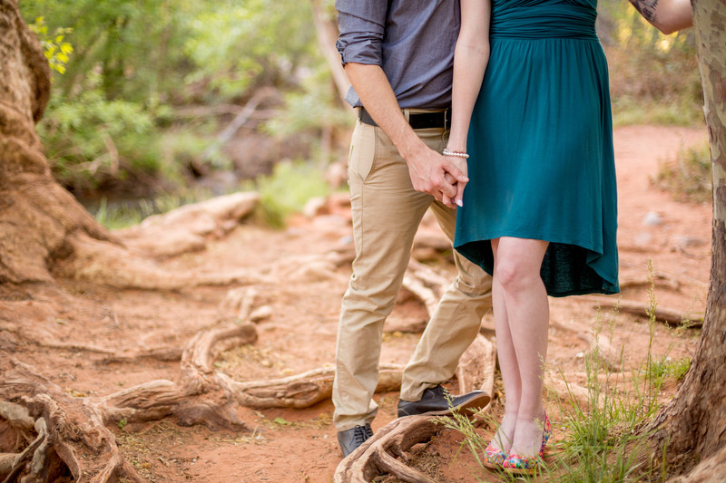 Holding Hands Engagement Session, Sedona, Photographer