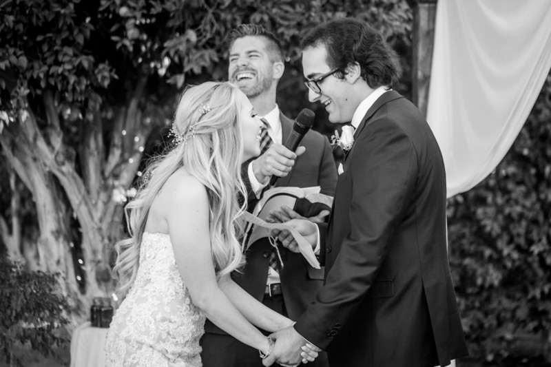 Ceremony laughing Phoenix Wedding Photographer