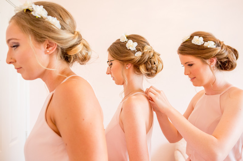 Bridesmaids getting ready Phoenix Wedding Photographer