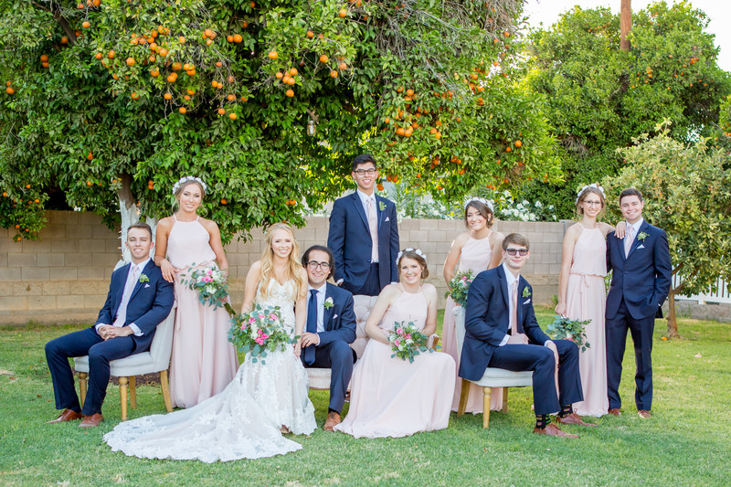 Backyard Orange Orchard Wedding Phoenix Photographer
