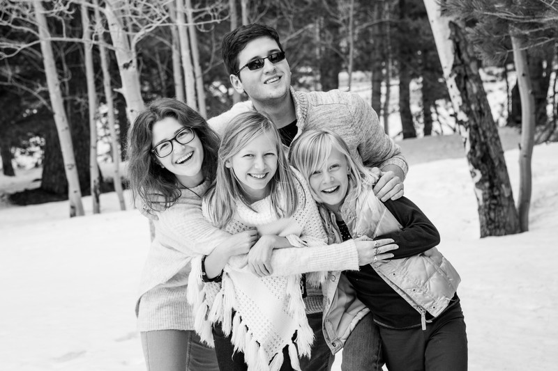 Snowy Flagstaff Family Session Phoenix Photographer