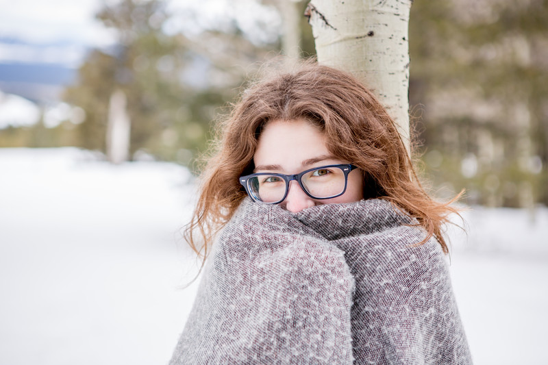 BoHo Snow Portrait Session, Flagstaff Photographer