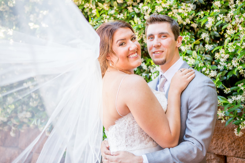 Bride and groom thru veil Phoenix Wedding Photographer