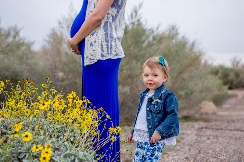 Blue Dress Maternity Session, Phoenix Photographer