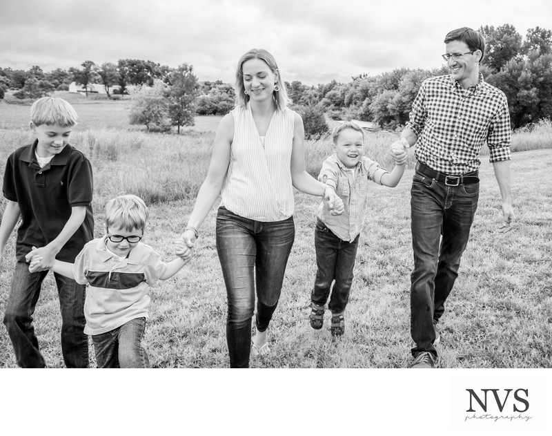Casual Family Portrait Session Sioux Falls Photographer