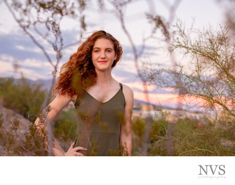 Sunset Senior Graduation Portrait Phoenix Photographer