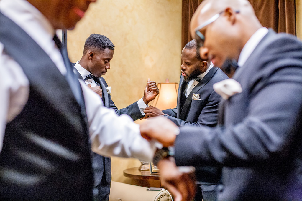 Groomsmen at Villa Siena Phoenix Wedding Photographer