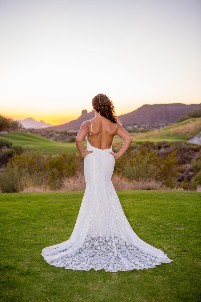 Back Dress Eagle Mountain Phoenix Wedding Photographer