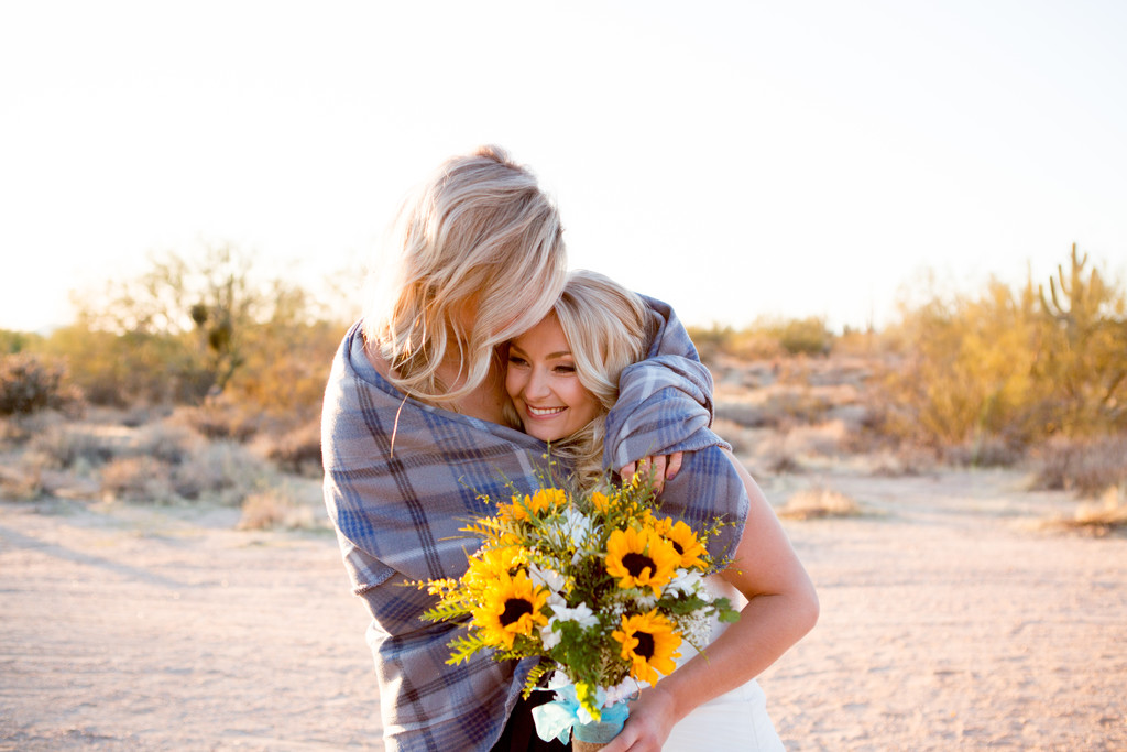 Desert Foothills Sunflower Wedding Phoenix Photography